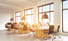 Coworking office with sunlight Royalty Free Stock Photos