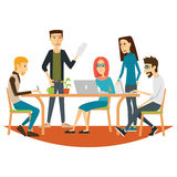 Coworking People in Meeting Royalty Free Stock Images