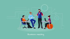 Coworking people working process footage stock footage