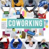Coworking przestrzeni społeczności Biznesowego uruchomienia pojęcie fotografia royalty free