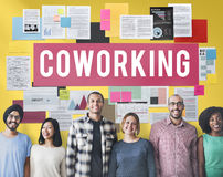 Coworking Space Community Business Start-up Concept royalty free stock photo