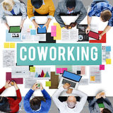 Coworking Space Community Business Start-up Concept royalty free stock photography