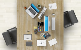 Coworking space concept. Stock Images