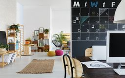 Coworking space and relax zone Stock Photos