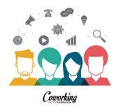 Coworking symbolsdesign Arkivbild