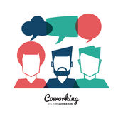 Coworking symbolsdesign Fotografering för Bildbyråer