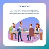 Coworking Team Discussion ? la r?gion moderne de bureau illustration libre de droits