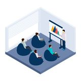 Coworking Training Illustration Stock Images