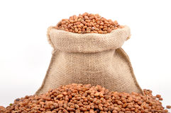 Cowpea. Grains filled in sack Stock Photo