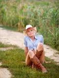 Cowpuncher della ragazza Fotografie Stock