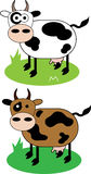 Cows. Creative design of  cow Royalty Free Stock Image
