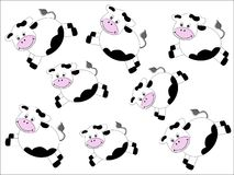 Cows pattern Stock Photography