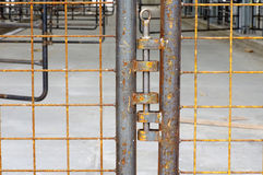 Cowshed new construction gate detail Royalty Free Stock Image
