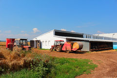 Cowshed with tractors Zetor Stock Photo