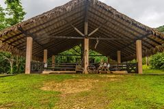 Cowshed. In village Anamuya. Dominican Republic stock image