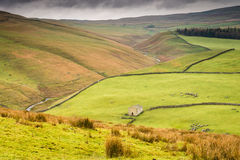 Cowside and Dew Bottems. View over Cowside Beck and Dew Bottems north of Malham Tarn in the Yorkshire Dales National Park Royalty Free Stock Photos