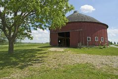 Cox round barn. Near Athens , Indian. Fulton County Stock Image