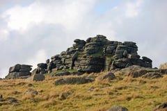 Cox Tor, Dartmoor. Granite rocks on Cox Tor, Dartmoor Royalty Free Stock Photos