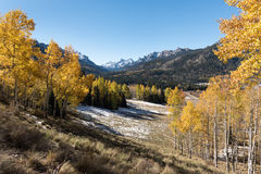 Coxcomb Peak viewed from Cimarron River Valley Royalty Free Stock Images