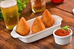 Coxinha - βραζιλιάνο πρόχειρο φαγητό Στοκ Εικόνες