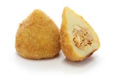 Coxinha, crocchetta brasiliana del pollo Immagine Stock