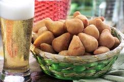 Coxinha de Frango - Brazilian fried chicken snack Stock Photo