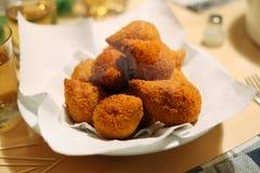 Coxinha de Galinha - Brazilian deep fried chicken croquette snack Stock Image