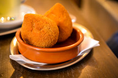 Coxinhas de frango brasilian dough balls snack Stock Photography