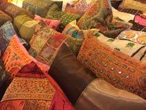 Coxins de assento coloridos fotografia de stock