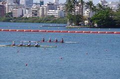 Coxless four competition at Rio2016 Olympics. Picture taken Aug 11, 2016 Stock Photos