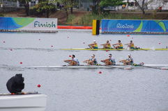 Coxless pair competition at Rio2016 Olympics Royalty Free Stock Photo