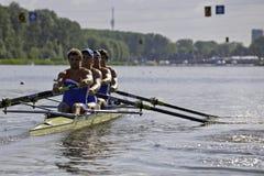 Coxless quatro dos homens Imagem de Stock Royalty Free