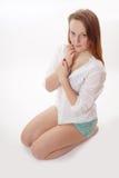 Coy girl Stock Image