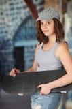 Coy Skatter Girl Royalty Free Stock Images