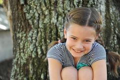Coy and Sweet Little Girl royalty free stock image