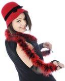 Coy Young Flapper Arkivfoto