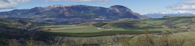 Coyhaique, capital of the Aysen Region of Southern Chile. Small city of Coyhaique in the rural Aysen Region of Southern Chile. The town is the gateway to the stock images