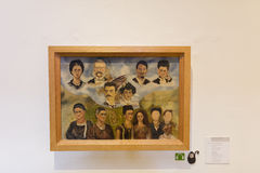 COYOACAN, ΜΕΞΙΚΟ - 1 ΝΟΕΜΒΡΊΟΥ 2016: Κλείστε επάνω μιας ζωγραφικής από Frida Kahlo στοκ εικόνες