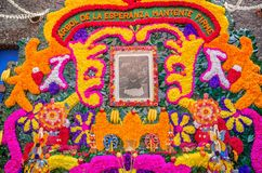 Day of the Dead Offering Altar, Home of Frida Kahlo in Mexico. Coyoacan, Mexico - November 1, 2016: Day of the Dead Offering Altar in Blue House Casa Azul, the royalty free stock image