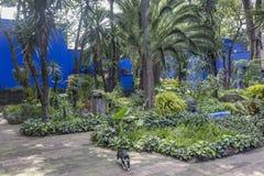COYOACAN, MEXICO - OCT 28, 2016: Blue House und courtyard of La Casa Azul stock photo