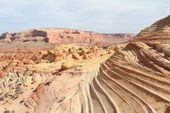 USA, Arizona/Coyote Buttes: Bizarre Landscape Royalty Free Stock Image