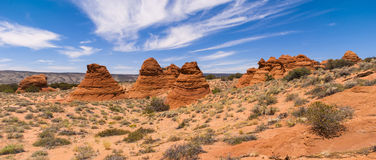 Coyote Buttes Panorama Stock Images