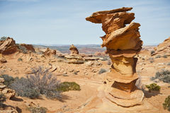 Coyote Buttes rock formation Royalty Free Stock Photo