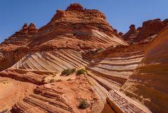 Coyote Buttes. Sandstone swirl Coyote Buttes Paria Canyon-Vermillion Cliffs Wilderness Area, Arizona, USA Royalty Free Stock Photo