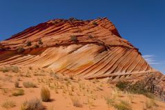 Coyote Buttes. Sandstone swirl Coyote Buttes Paria Canyon-Vermillion Cliffs Wilderness Area, Arizona, USA Royalty Free Stock Images