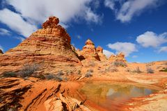 Coyote Buttes South. Coyote Buttes, Paria Canyon-Vermilion Cliffs Wilderness, Arizona Stock Images