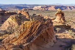 Coyote Buttes Surreal Landscape Stock Images