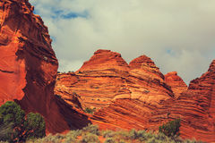 Coyote Buttes. Of the Vermillion Cliffs Wilderness Area, Utah and Arizona Stock Photo