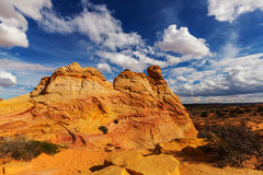 Coyote Buttes. Of the Vermillion Cliffs Wilderness Area, Utah and Arizona Royalty Free Stock Photos