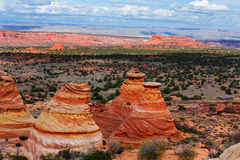 Coyote Buttes. Of the Vermillion Cliffs Wilderness Area, Utah and Arizona Royalty Free Stock Image